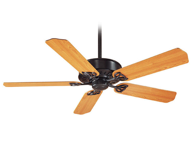 The Hunter Paramount Xp Is A Classic Ceiling Fan That Features Five Light Cherry Stained Blades Which Reverse To Pitch Black Lacquer Merges