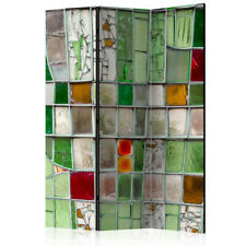 Paravento - Emerald Stained Glass [Room Dividers]