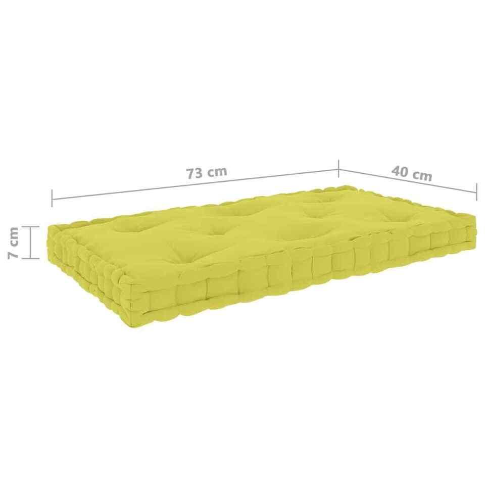 Cuscini per Pallet e Pavimento 7 pz Verde Mela in Cotone 8