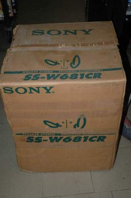 Sony speaker system ss-w681cr per home theatre