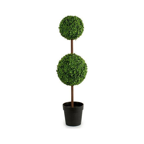 Pianta Decorativa 2 Palline Verde Plastica (27 x 98 x 27 cm)