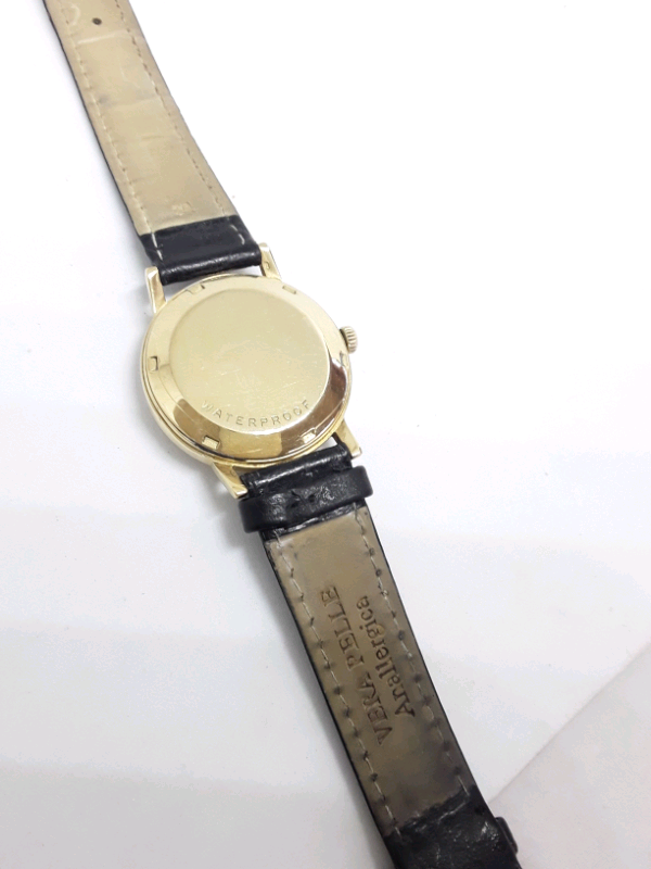 Omega automatic vintage watch 18k gold 3