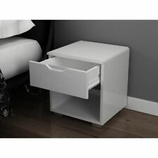 Comodino moderno laccato bianco URBANO - L 35 cm
