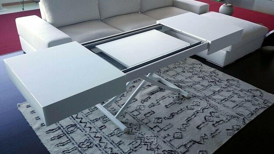 Tavolino Trasformabile bianco latte-tavolini a roma