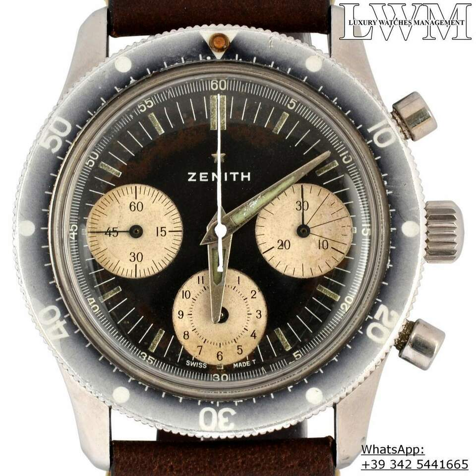ZENITH Chronograph A277 Sub Sea Diver first series Ghost 1960 6