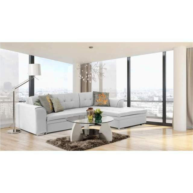 JustYou24 JUSTyou Fortuna I Divano angolare 165x270x80 cm Bianco