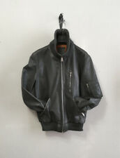 Bomber giaccone vintage in pelle militare 48