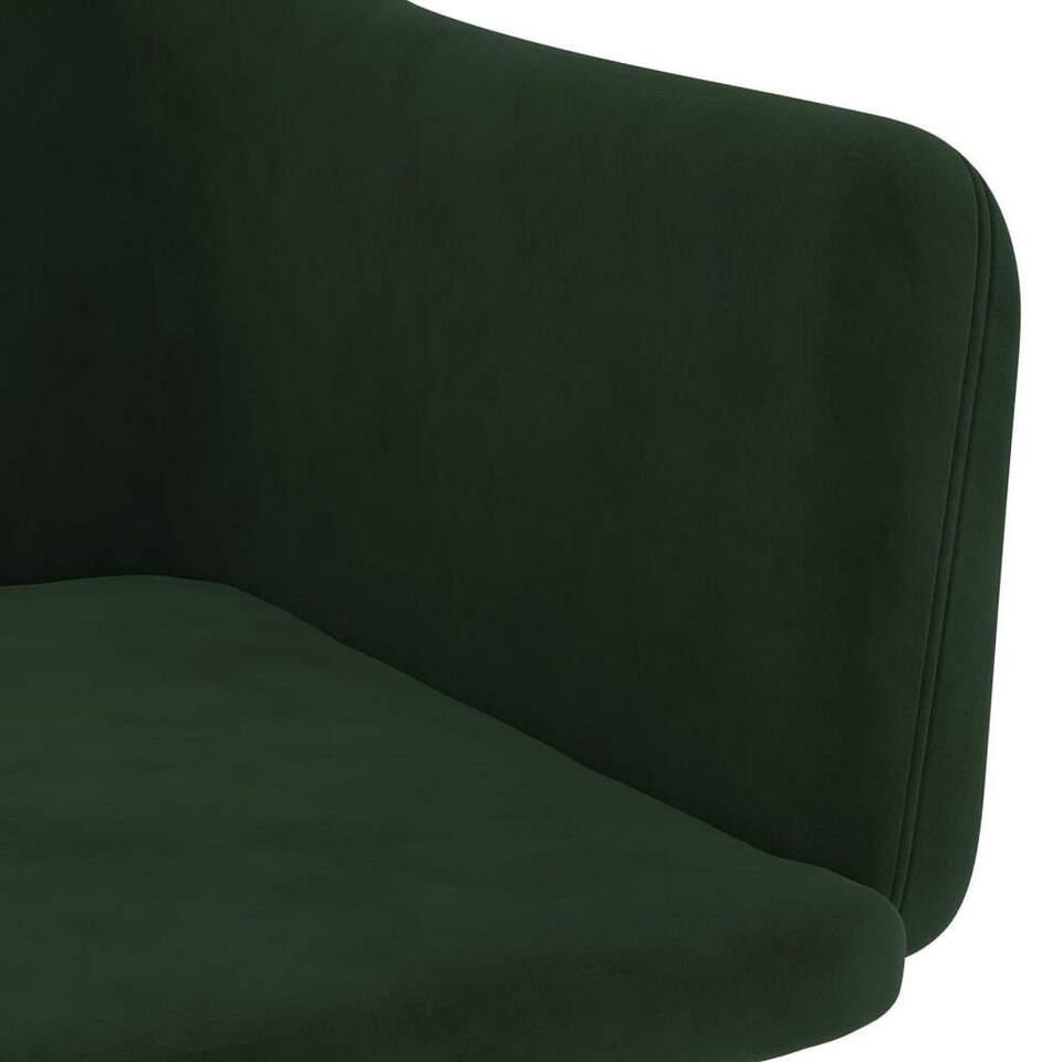 Sedie da Pranzo 2 pz Verde Scuro in Velluto 6