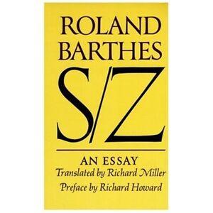roland barthes s/z an essay