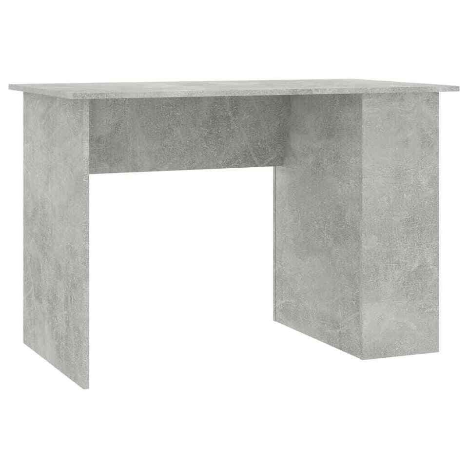 Scrivania Grigio Cemento 110x60x73 cm in Truciolato 2