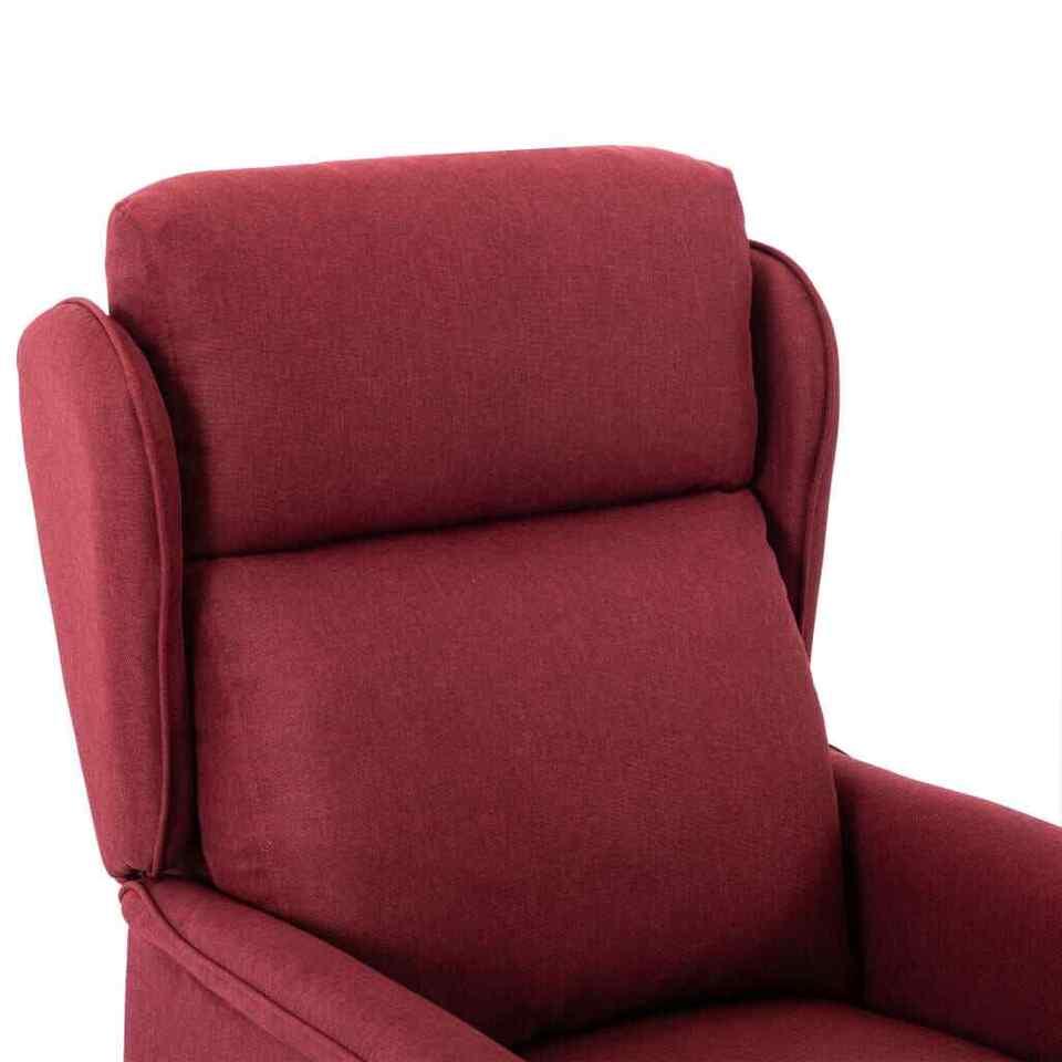 Poltrona Massaggiante Reclinabile Rosso Vino Tessuto 6