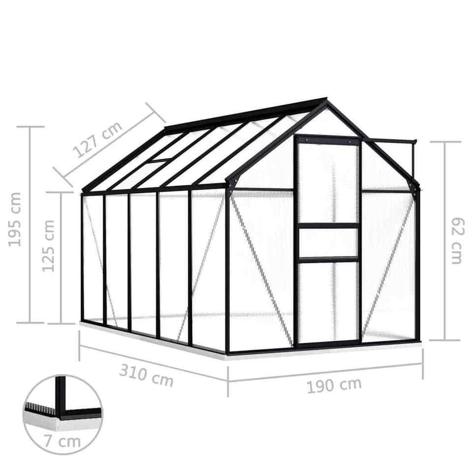 Serra con Telaio Base in Alluminio Antracite 5,89 m² 6