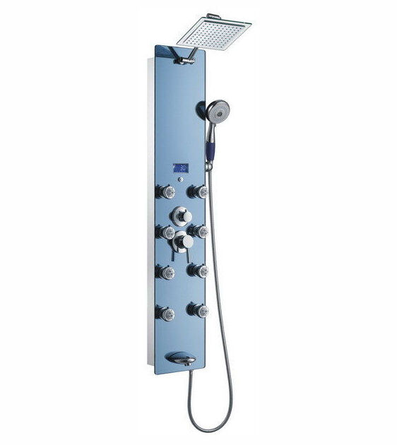 The Stainless Steel Shower Panel Is Another Great Model From Blue Ocean,  Made Of Corrosion Resistant Steel With A Chrome Finish. The Model Features  Eight ...