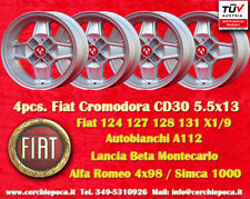 4 Cerchi CD30 Fiat 124 125 X1/9 112 CD30 Abarth