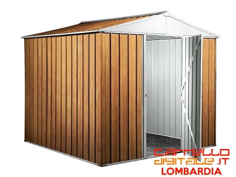 Box baracca lamiera Acciaio 275x175cm finitura legno 2