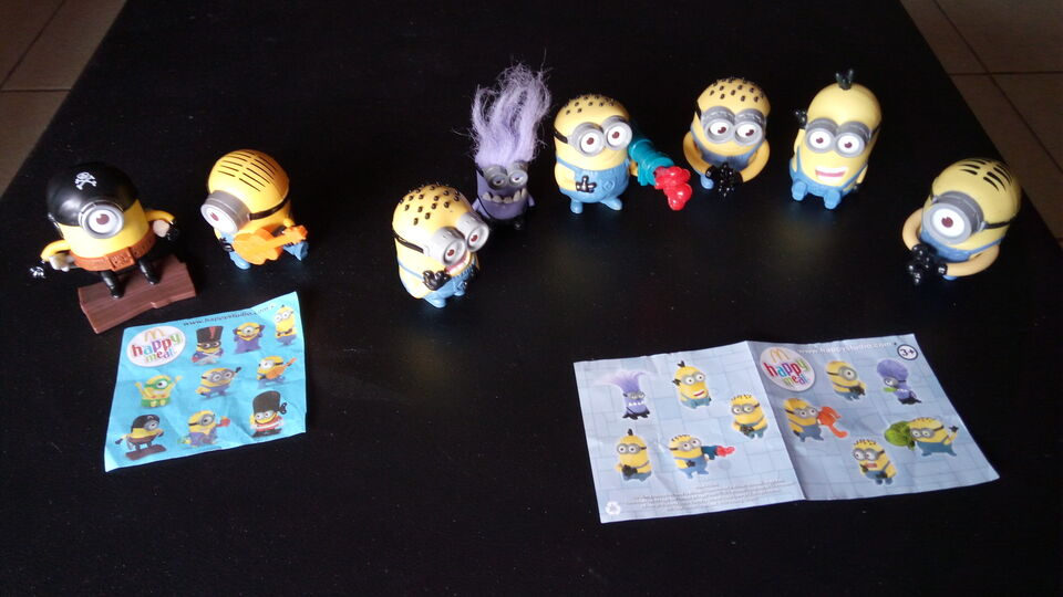 Minions Happy MEAL McDonald's 2013 2015