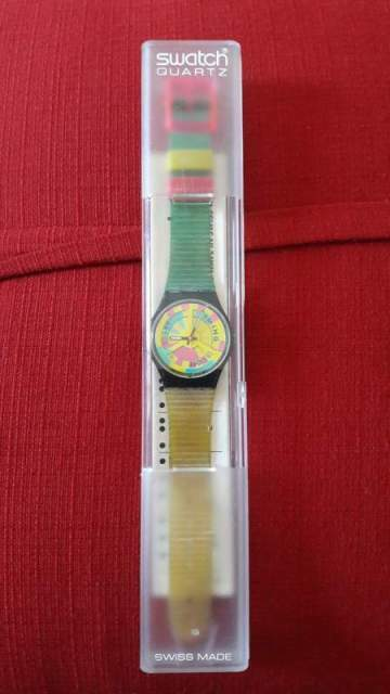Orologio SWATCH GB 137 THE GLOBE ST 1990