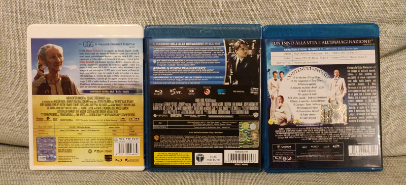 Blu Ray di Nolan, Spielberg e Gilliam 2