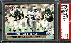 1990 Pro Set Emmitt Smith 800 Football Card