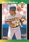 Barry Bonds Single Baseball Cards