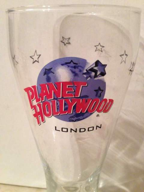 Bicchiere planet hollywood london