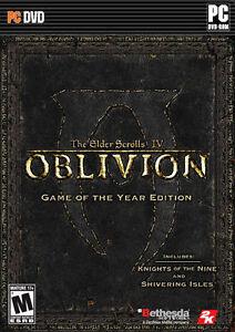 elder scrolls iv oblivion game of the year edition pc 2007 w rh ebay com Oblivion Game Cover oblivion game manual xbox 360 pdf