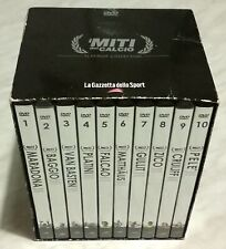 Box cofanetto 10 dvd i miti del calcio platinum collection