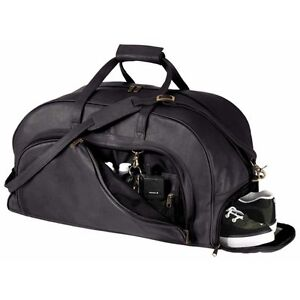 Royce Leather Organizer with shoe compartment Duffle Bags - Black ... fd01a045de6a8