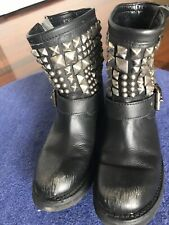 Boot Tennesse Antic Silver Studs Black Ash Mexican Boots