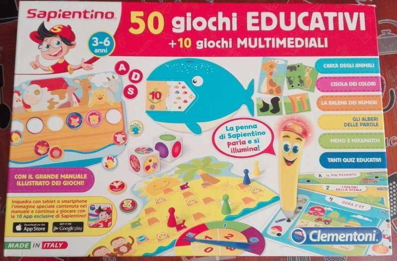 Sapientino 50 giochi educativi e 10 multimediali