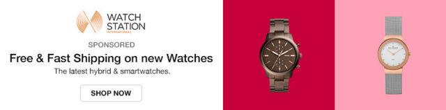 Latest hybrid & smartwatches.