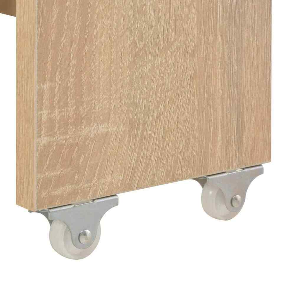 Tavolo da Pranzo Estensibile Rovere Sonoma 175x90x75 cm 6
