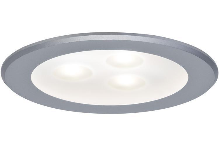 LED 3x4W 2 Paulmann Einbauleuchten 92623 Premium EBL Set Drilled Alu rund schwb