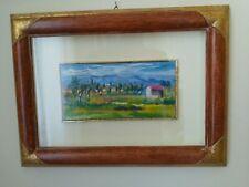 Quadretto di Luigi Pignataro -paesaggio di campagna-