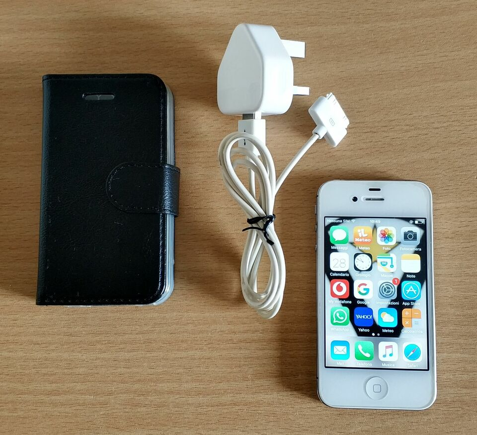 Iphone 4S 8GB Bianco con Custodia