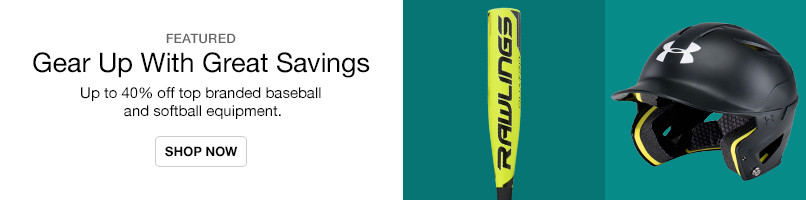 Up to 40% off Bats, Gloves and more