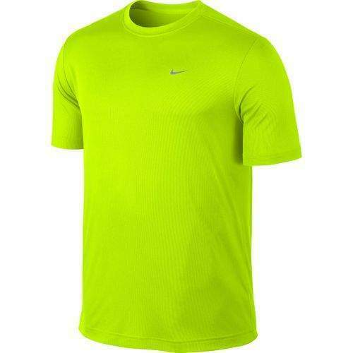 Nike Uomo Dri-Fit Cotton Tee Giallo T-shirt Running Training