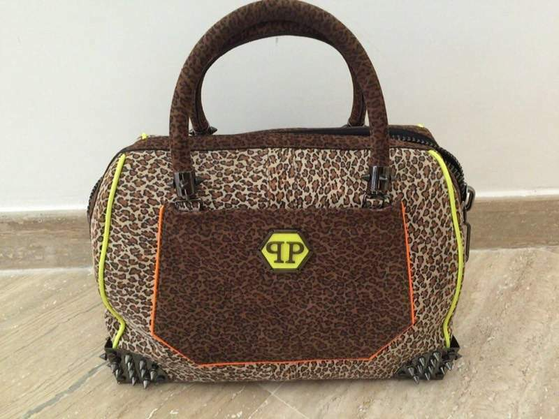 Borsa Philipp Plein Jungle Leopard Bauletto -60%