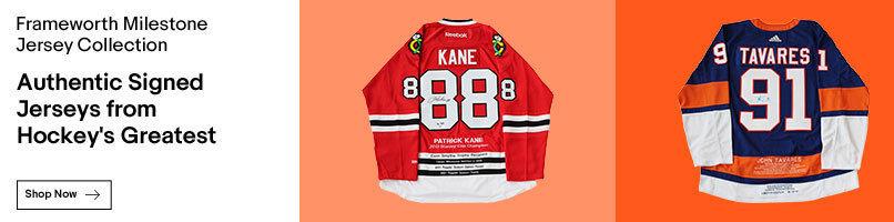 Jerseys from hockeys greatest players