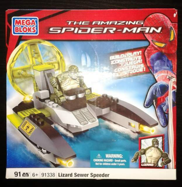 The Amazing Spider Man- Mega Bloks 91338 - Veicolo del Lizard