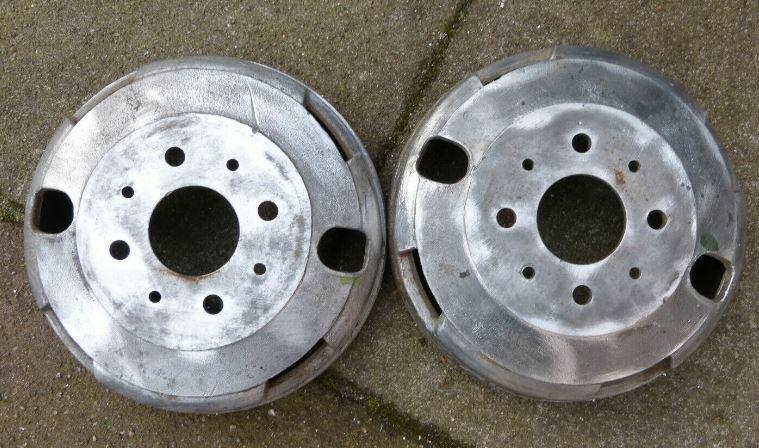 Fiat 600 multipla coppia tamburi freno usati in...