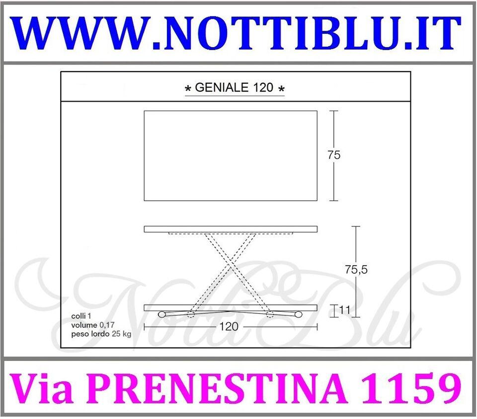 Tavolini Trasformabili Roma _ Tavolino Saliscendi GENIALE / A18 4