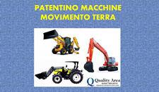 Patentino ESCAVATORE-TERNE-PALE (MESSINA)
