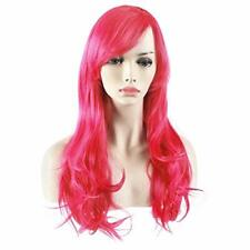 Parrucca Lunga Capello Mosso extensions Deluxe Rosa Fluo Pink 65 cm