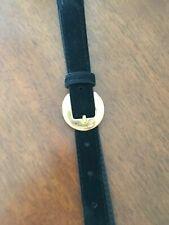Cintura Donna nera effetto scamosciato-Vintage