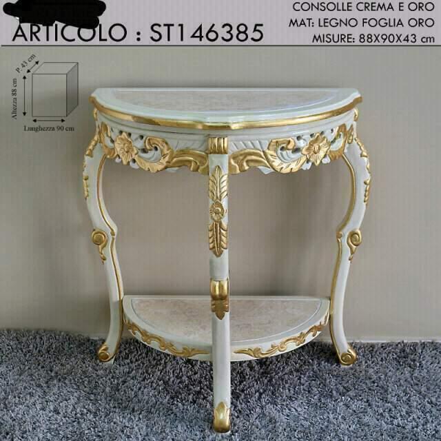 Consolle barocco con piano marmo