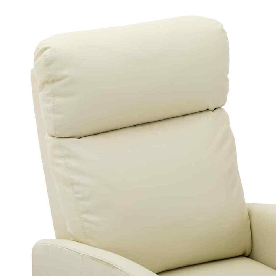 Poltrona Massaggio Reclinabile Crema in Similpelle 5