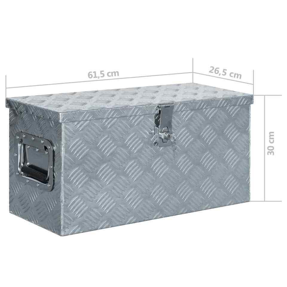Cassetta in Alluminio 61,5x26,5x30 cm Argento 7