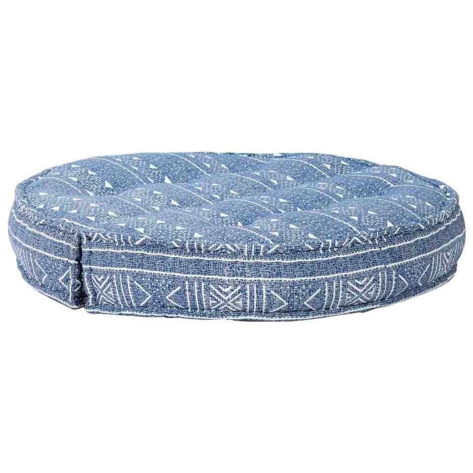 Pouf 100x20 cm in Tessuto Indaco 4