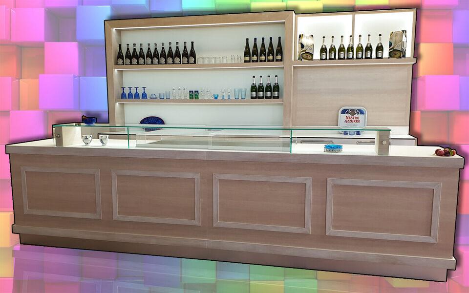 Banco bar completo refrigerato usati/fiera campionaria su misura 5